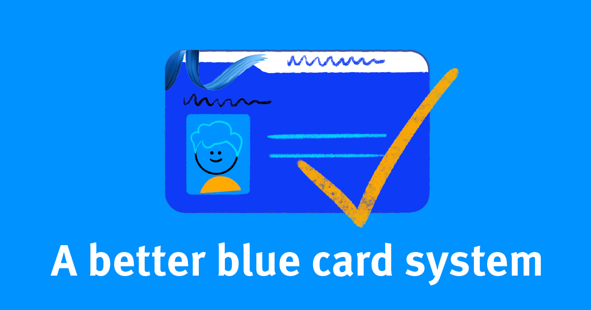 up-to-date Blue card