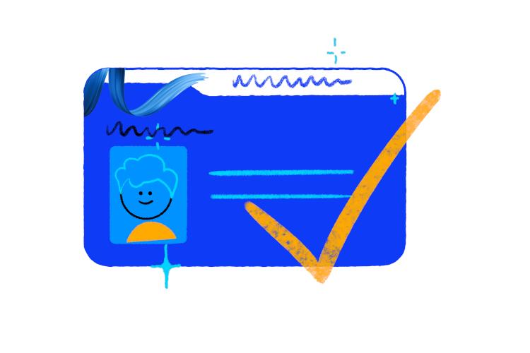 Bluecard holder symbol